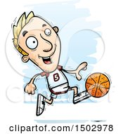 Running White Male Basketball Player