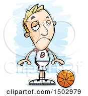 Sad White Male Basketball Player