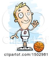 Waving White Male Basketball Player