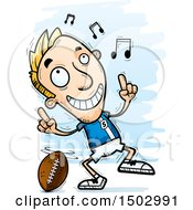White Male Football Player Doing A Happy Dance