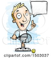Clipart Of A Talking Caucasian Man Tennis Player Royalty Free Vector Illustration