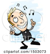 Clipart Of A Dancing Caucasian Man Spy Royalty Free Vector Illustration by Cory Thoman