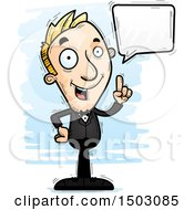 Clipart Of A Talking Caucasian Man In A Tuxedo Royalty Free Vector Illustration