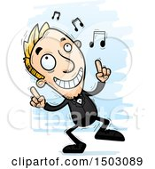 Clipart Of A Dancing Caucasian Man In A Tuxedo Royalty Free Vector Illustration
