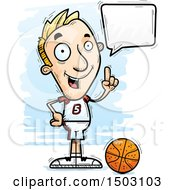 Clipart Of A Talking White Male Basketball Player Royalty Free Vector Illustration by Cory Thoman