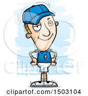 Clipart Of A Confident White Male Basketball Player Royalty Free Vector Illustration