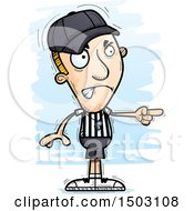 Clipart Of A Mad Pointing White Male Referee Royalty Free Vector Illustration by Cory Thoman