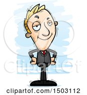 Clipart Of A Confident Caucasian Business Man Royalty Free Vector Illustration