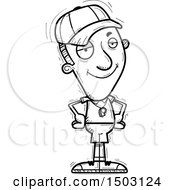 Clipart Of A Black And White Confident Male Basketball Player Royalty Free Vector Illustration