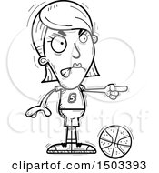 Poster, Art Print Of Black And White Mad Pointing White Female Basketball Player