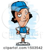 Clipart Of A Confident Black Female Coach Royalty Free Vector Illustration