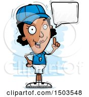 Clipart Of A Talking Black Female Coach Royalty Free Vector Illustration