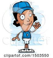 Clipart Of A Waving Black Female Coach Royalty Free Vector Illustration