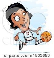 Poster, Art Print Of Running Black Female Basketball Player