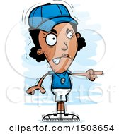 Clipart Of A Mad Pointing Black Female Coach Royalty Free Vector Illustration by Cory Thoman
