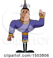 Clipart Of A Drunk Buff African American Male Wizard Royalty Free Vector Illustration