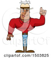 Clipart Of A Drunk Buff African American Male Cowboy Royalty Free Vector Illustration
