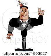 Clipart Of A Drunk Buff African American Party Man Royalty Free Vector Illustration