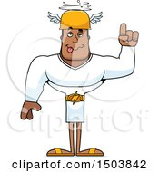 Clipart Of A Drunk Buff African American Male Hermes Royalty Free Vector Illustration