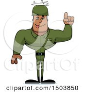 Poster, Art Print Of Drunk Buff African American Male Army Soldier