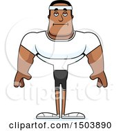 Clipart Of A Bored Buff African American Fitness Man Royalty Free Vector Illustration by Cory Thoman