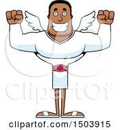 Cheering Buff African American Male Cupid