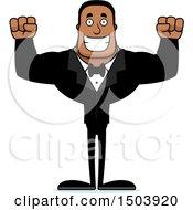 Poster, Art Print Of Cheering Buff African American Male Groom
