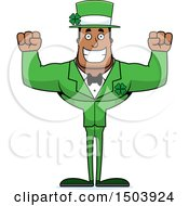 Cheering Buff Black Irish Male Leprechaun