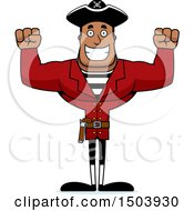 Cheering Buff African American Male Pirate Captain