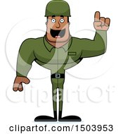 Poster, Art Print Of Buff African American Male Army Soldier With An Idea