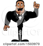 Clipart Of A Buff African American Male Groom With An Idea Royalty Free Vector Illustration