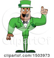 Buff Black Irish Male Leprechaun With An Idea