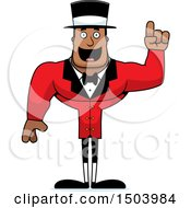 Buff African American Male Circus Ringmaster With An Idea