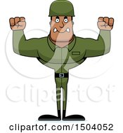 Poster, Art Print Of Mad Buff African American Male Army Soldier