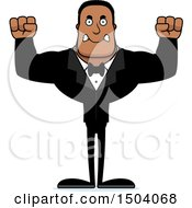 Poster, Art Print Of Mad Buff African American Male Groom