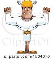Clipart Of A Mad Buff African American Male Hermes Royalty Free Vector Illustration