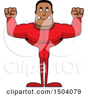 Clipart Of A Mad Buff African American Man In Pjs Royalty Free Vector Illustration