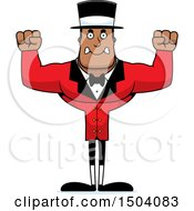 Mad Buff African American Male Circus Ringmaster