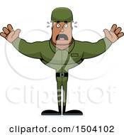 Poster, Art Print Of Scared Buff African American Male Army Soldier