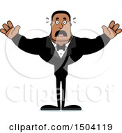 Clipart Of A Scared Buff African American Male Groom Royalty Free Vector Illustration