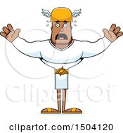 Clipart Of A Scared Buff African American Male Hermes Royalty Free Vector Illustration