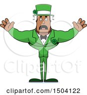 Scared Buff Black Irish Male Leprechaun