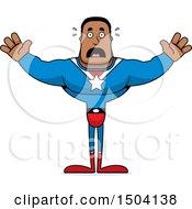 Scared Buff African American Male Super Hero
