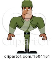 Poster, Art Print Of Sad Buff African American Male Army Soldier