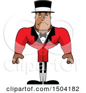 Clipart Of A Sad Buff African American Male Circus Ringmaster Royalty Free Vector Illustration