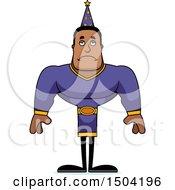 Sad Buff African American Male Wizard