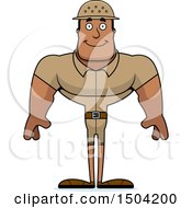 Clipart Of A Happy Buff African American Male Zookeeper Royalty Free Vector Illustration