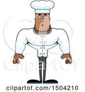 Clipart Of A Surprised Buff African American Male Chef Royalty Free Vector Illustration