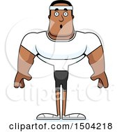 Clipart Of A Surprised Buff African American Fitness Man Royalty Free Vector Illustration by Cory Thoman