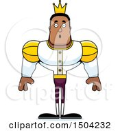 Clipart Of A Surprised Buff African American Male Prince Royalty Free Vector Illustration